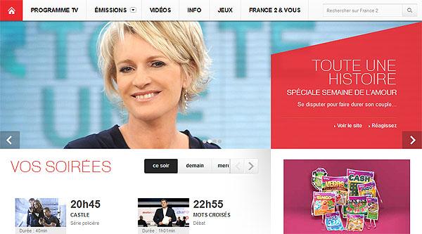 Le nouveau site web de France2.