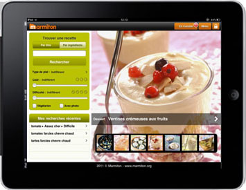 Application iPad de Marmiton
