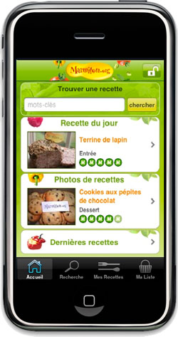 L'application iPhone de Marmiton