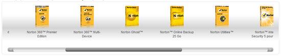 Gamme de produits Norton