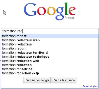 Google Suggest pour trouver des mots cles quand on écrit pour le référencement