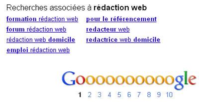 Trouver des mots cles - écrire pour le référencement - les recherches associées de Google