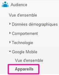 Google Analytics : résolution d'écran des mobiles
