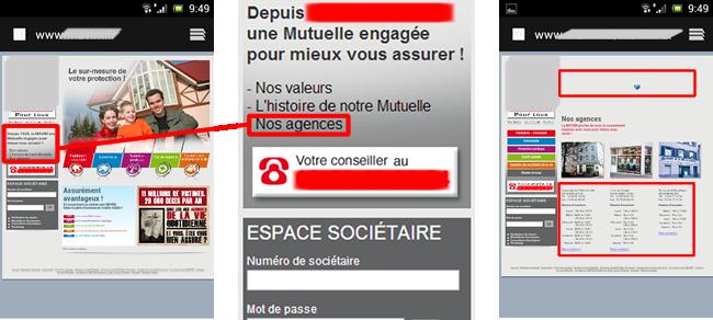 Mauvais affichage de la page sur mobile