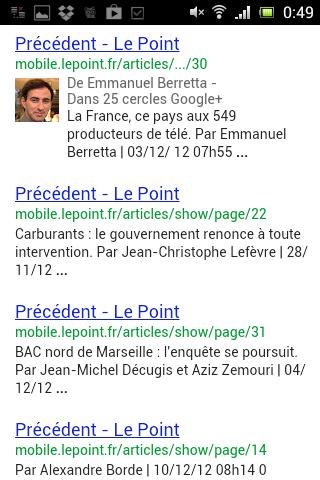 Les titles du site mobile de Le Point sont dupliqués