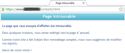 Changement d'URL sans redirection