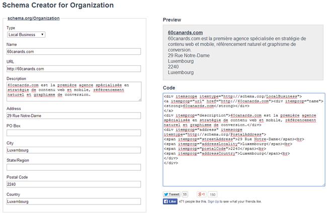Outil d'aide au balisage des données structurées pour l'Entreprise