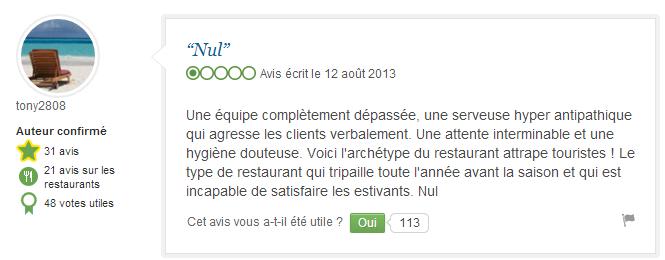 Restaurant Il Giardino : avis des internautes avant le buzz