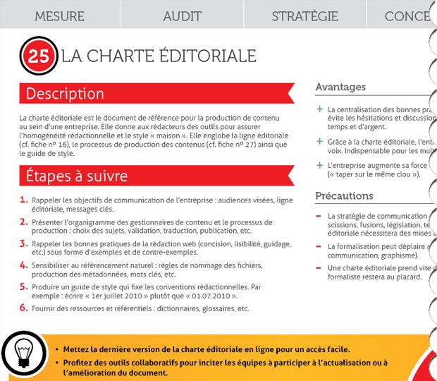 La charte éditoriale expliquée