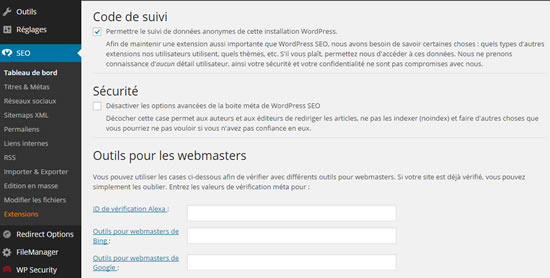 Wordpress plug-in SEO