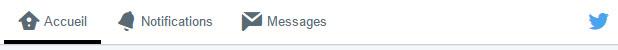 La barre d'outil Twitter - des pictos bien pensés