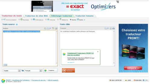 Le traducteur en ligne Prompt Translator