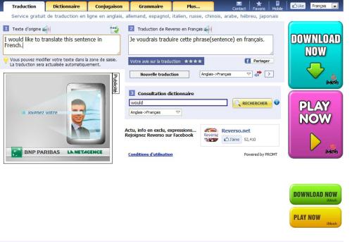 Le traducteur en ligne gratuit Reverso