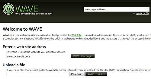 Wave permet de valider l'accessibilité de votre site web
