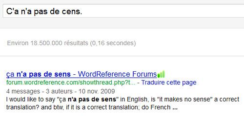 Le correcteur orthographique de Google