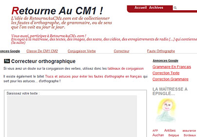 Dictionnaire en ligne RetourneauCM1