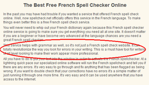 Dictionnaire en ligne Spellcheck