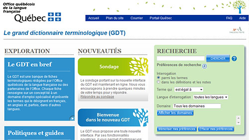 Dictionnaires en ligne yellow dolphins - Office de la langue francaise dictionnaire ...