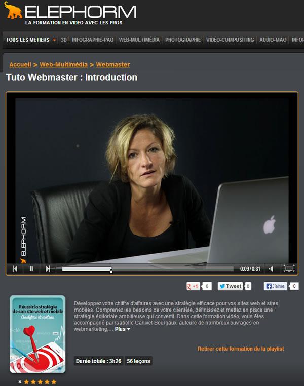 Isabelle Canivet DVD tuto référencement mobilec ontenu