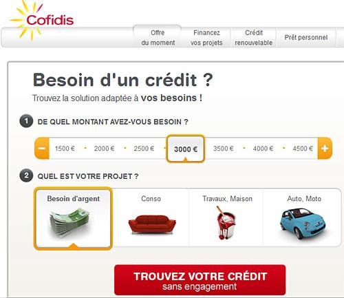 Scénarisation d'un crédit chez Cofidis