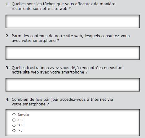 Modèle de sondage en ligne
