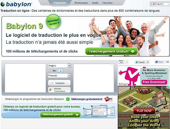 Traducteur en ligne gratuit Babylon