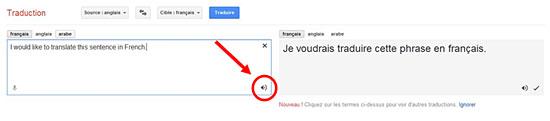 La traduction en ligne gratuite sur google Translate