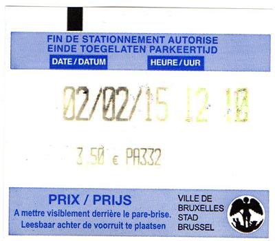 Billet de stationnement