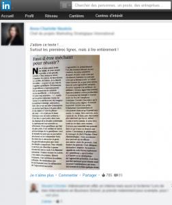 Un article partagé sur LinkedIn, qui récolte plus de notoriété que l'original.