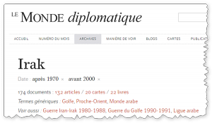 """Les dossiers """"pays"""" du Monde Diplomatique collectionne des ressources thématiques"""