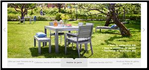Le carrousel sur la page d'accueil du site web IKEA