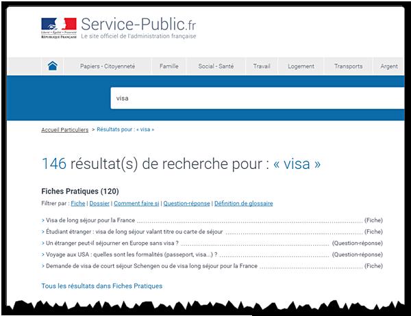 motorul de căutare al site-ului ServicePublic.fr favorizează foile practice despre știri