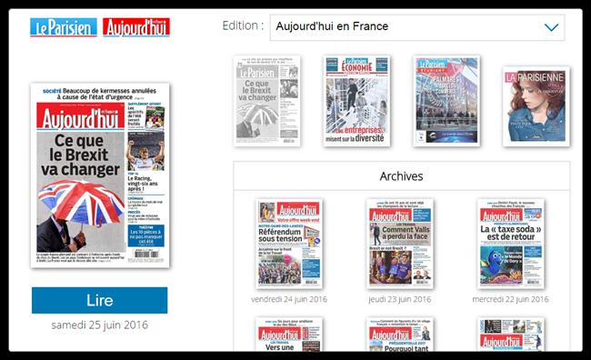 Complémentarité entre le journal papier et le web