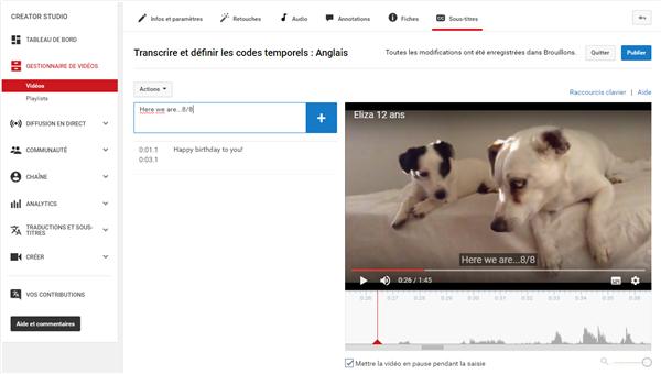 Ajouter des sous-titres dans YouTube