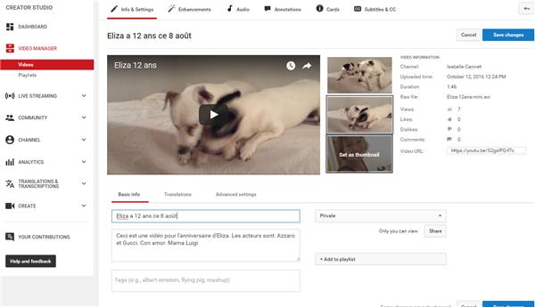 Les métadonnées à renseigner sur YouTube