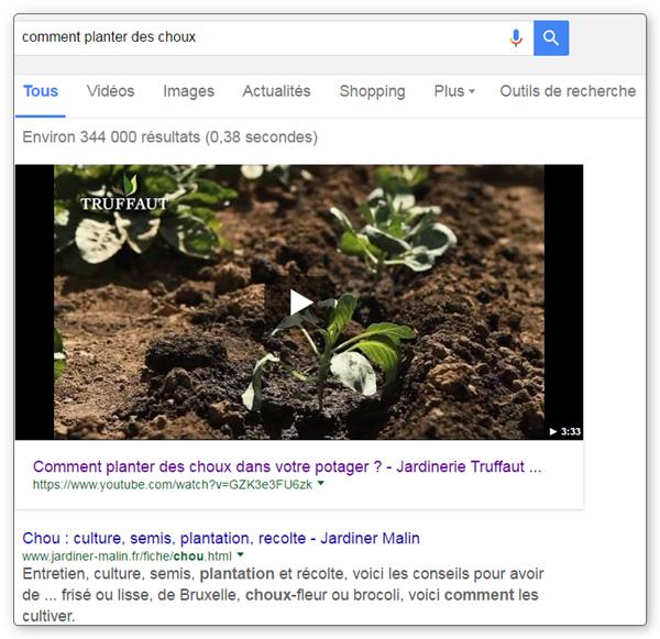 Position #0 sur Google - exemple avec vidéo issue de Youtube