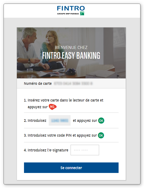 Login PC banking BNP Paribas