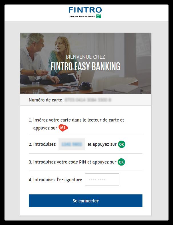 Login PC banking BNP Paribas