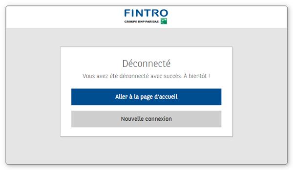 Déconnection PC banking BNP Paribas