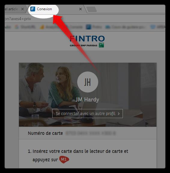 PC banking BNP Paribas - faute d'orthographe
