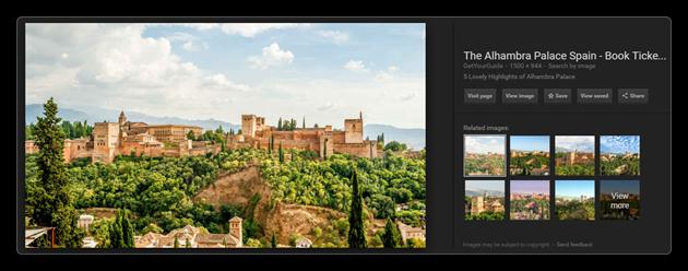 Nouvelle interface de Google Images