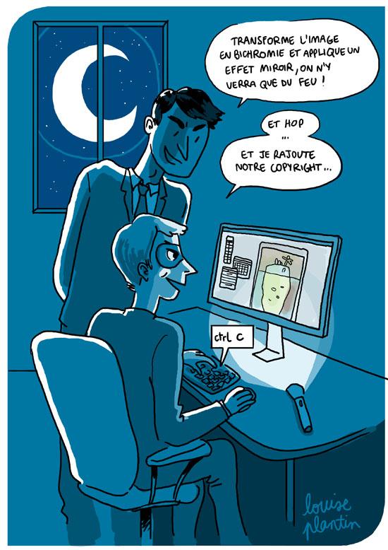 Plagiat des droits d'auteur en matière de création d'image