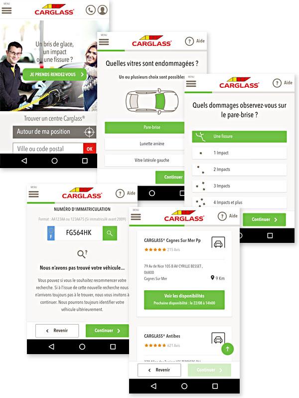 Le site Carglass : une superbe scénarisation de l'expérience mobile