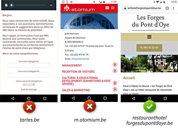 """L'importance de la page """"Contactez-nous"""" sur un site mobile"""