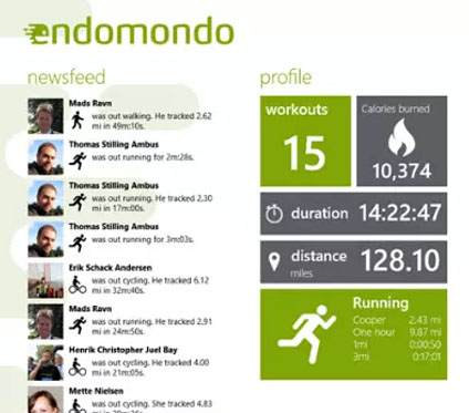 Endomodo : application mobile avec fonctions sociales