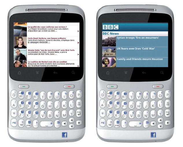 Les sites web en version mobile de La Libre et de la BBC
