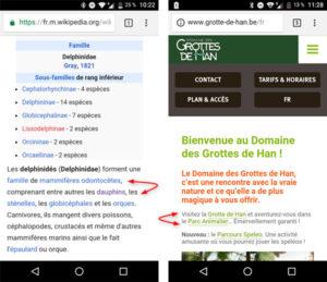 L'interligne sur mobile, un facteur qui influence l'ergonomie du clic