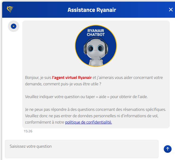 Chatbot Ryanair