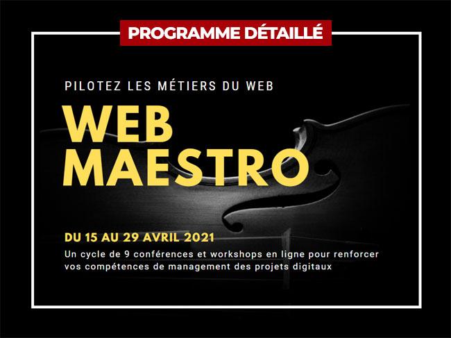 Conférence et workshop WEB MAESTRO - Pilotez les métiers du web - Yellow Dolphins
